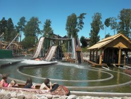 interlink log flume water ride sweden
