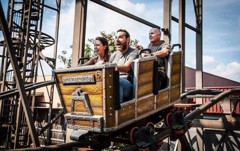 Interlink Used Ride : Mine Train - Roller Coaster