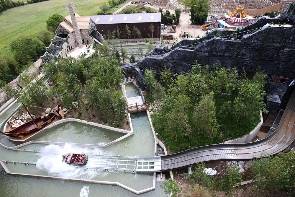 Interlink New Ride : Superflume Viking Voyage at Tayto park Top Down view