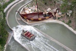 Birdseye Viking Voyage Boat Splash
