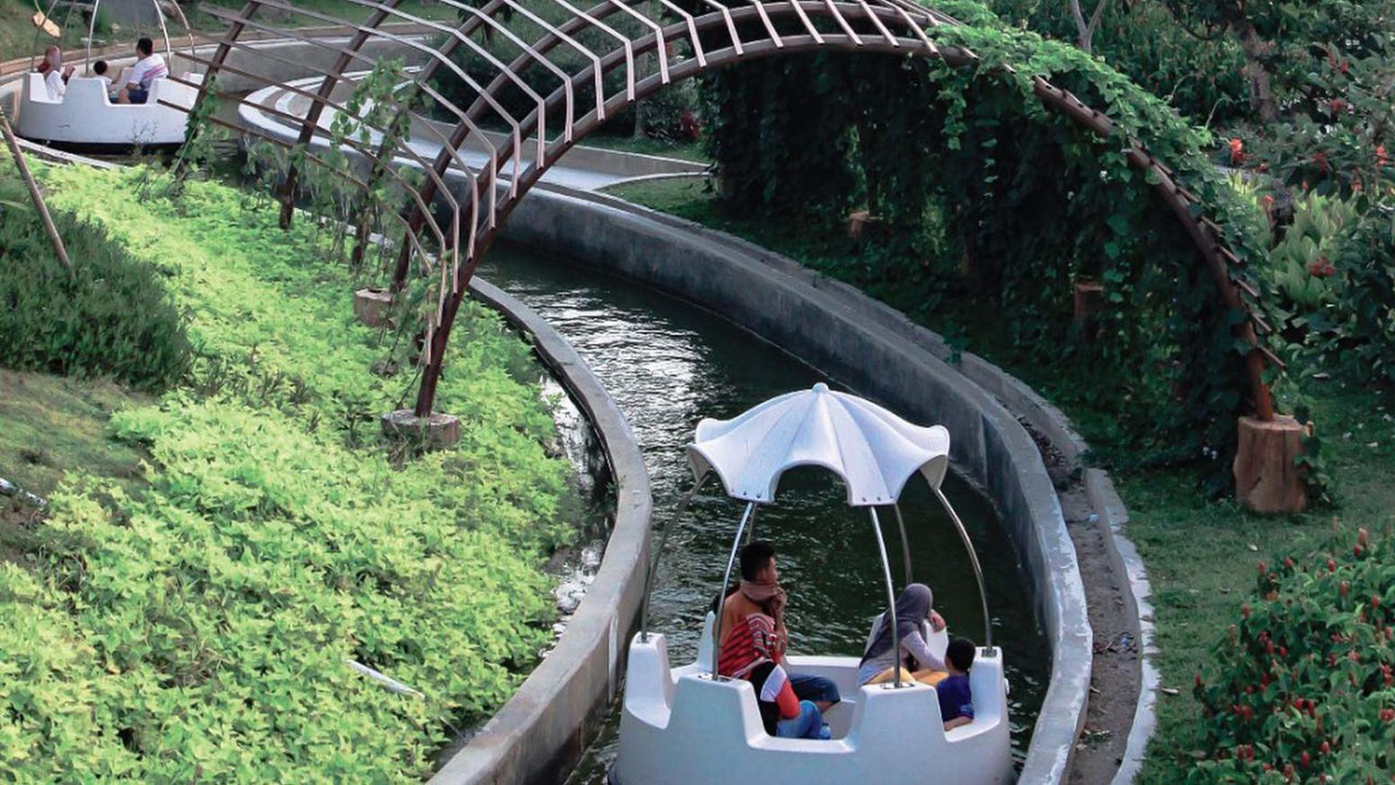 Interlink New Ride : Spin Boat Floating Mushroom at Saloka Parkk