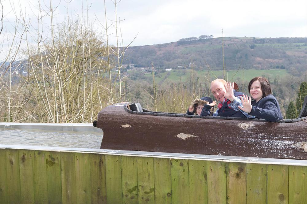 Interlink New Ride : Alpine Log Flume Water Ride at Gulliver's World image 5