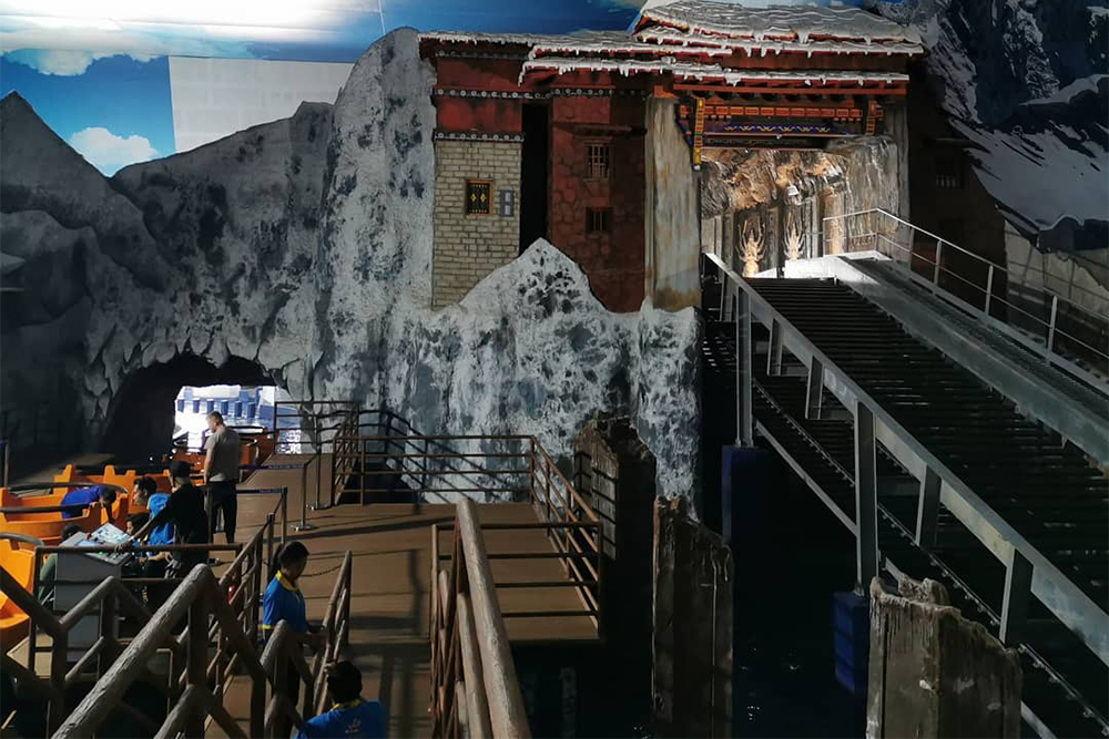Interlink New Ride : Rapid River Forbidden Temple Rapid Adventures at Trans Studio Bali