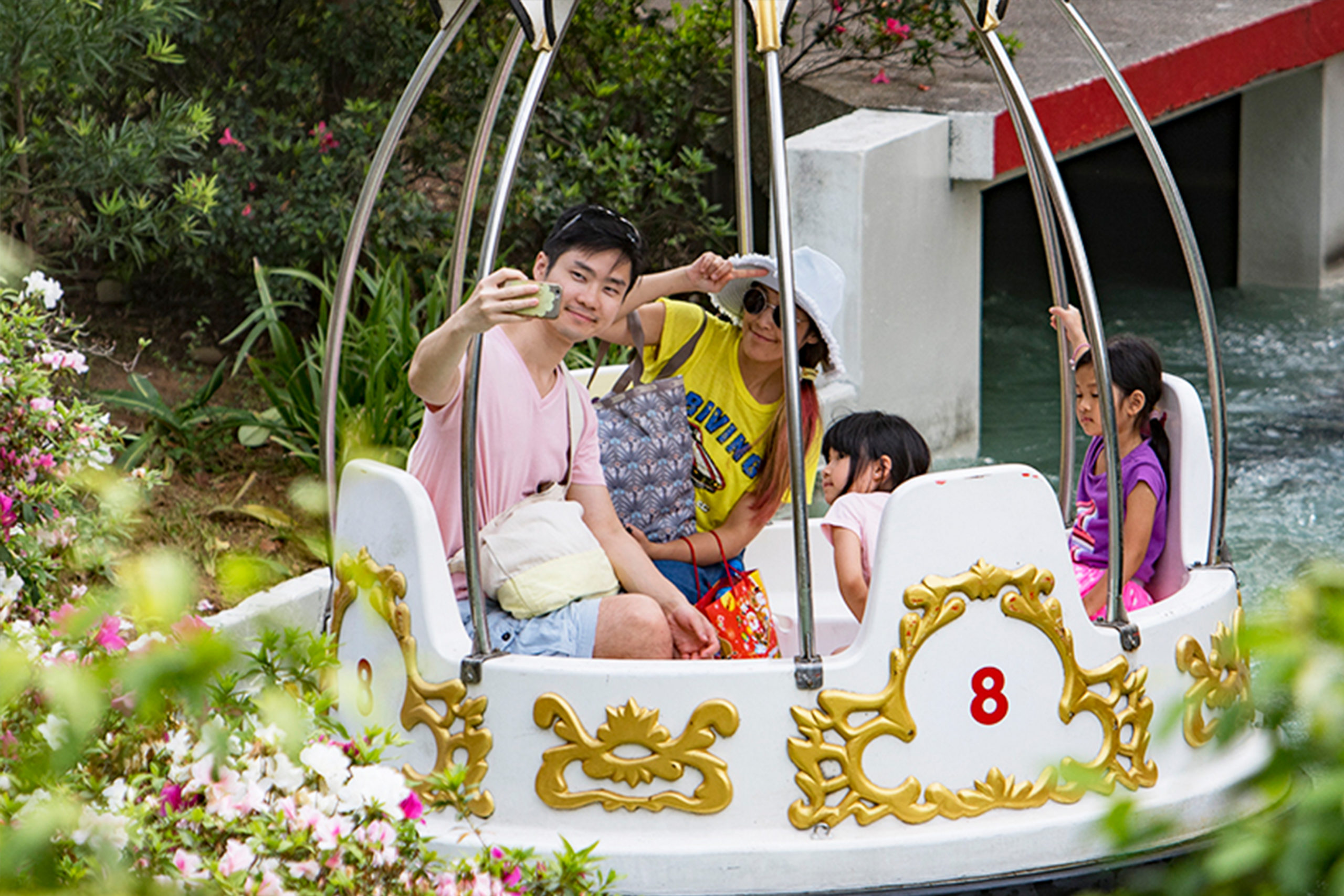 Interlink New Ride : Spin Boat Garden Boats at Lihpao Land 5