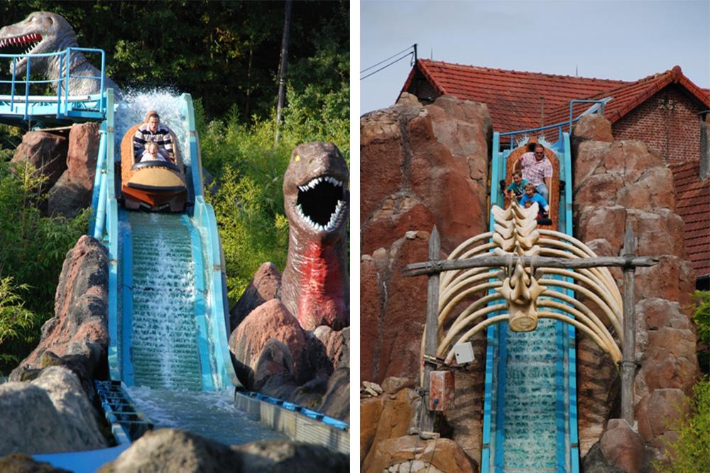 Interlink New Ride : Log flume Dino Splash at Parc Saint Paul 4