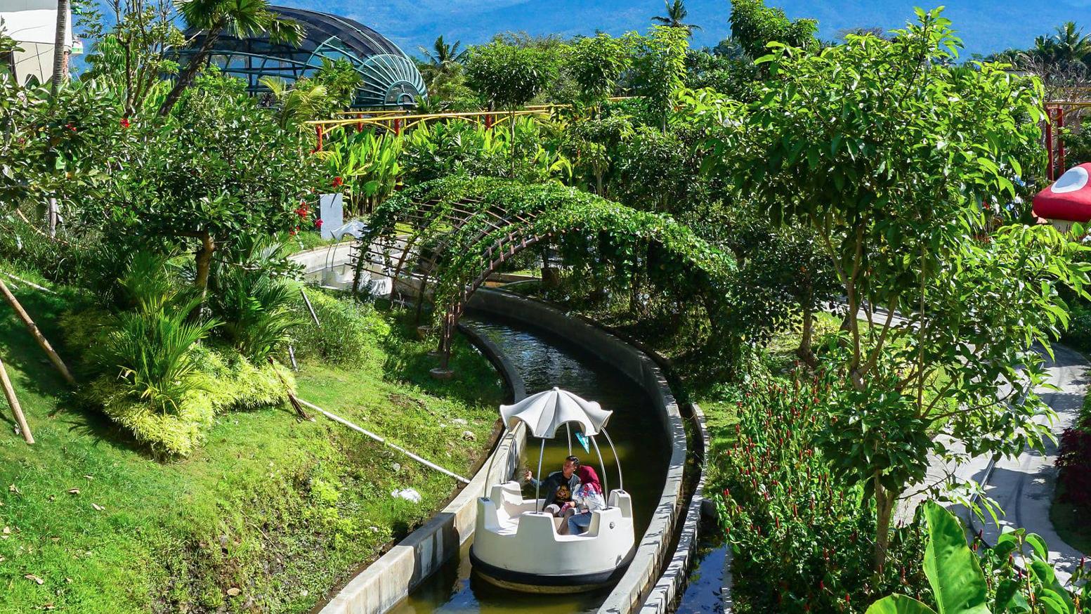 Interlink New Ride : Spin Boat Floating Mushroom at Saloka Park