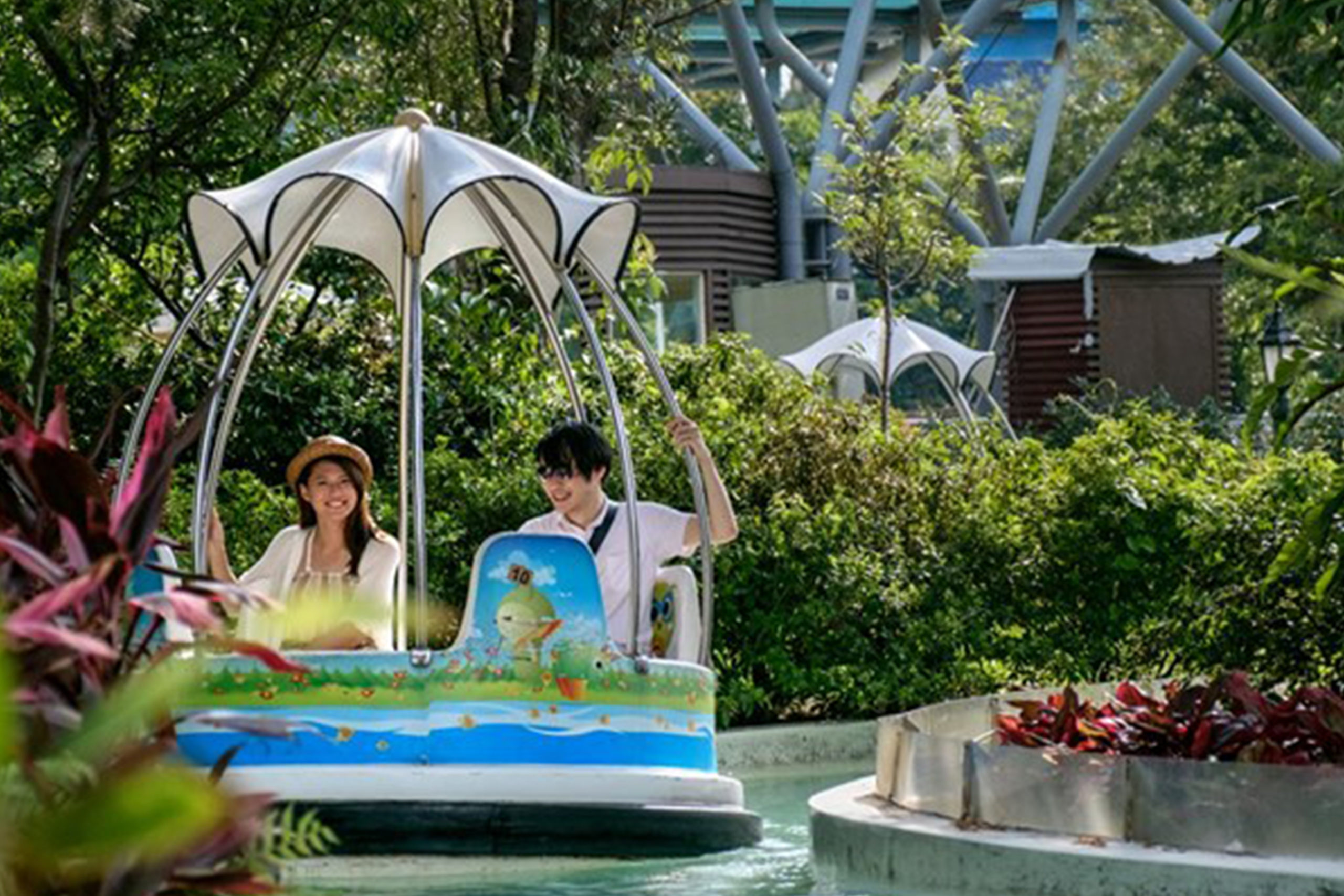 Interlink New Ride : Spin Boat Garden Boats at Lihpao Land 3