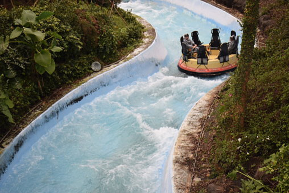 Interlink New Ride : Rapid River Jungle Rafting at Lihpao Land 3