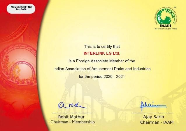 Interlink IAAPI Certificate 2021